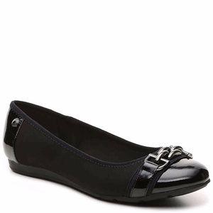 Anne Klein AK Sport Alexa Ballet Flat Black 7M NIB